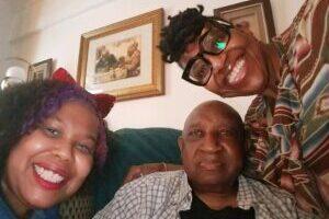 Holidays. Grandpa Mommy and I
